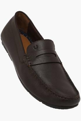 ALLEN SOLLY Mens Leather Slip On Loafers  ...