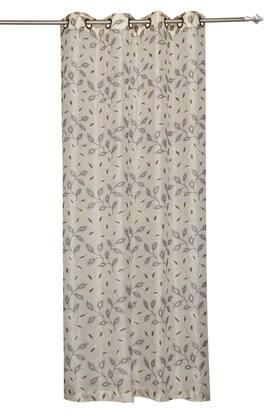 Embroidered Antique Eyelet Sheer Door Curtain