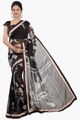 JASHN Womens Printed Chiffon Saree