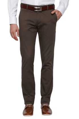 ARROW SPORT Mens Flat Front Solid Formal Trousers