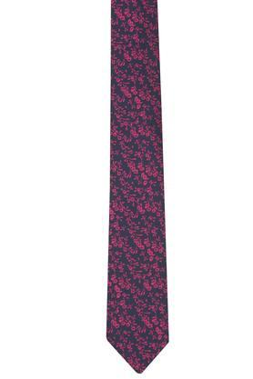 Mens Printed Formal Tie with Pocket Square and Cuff Links