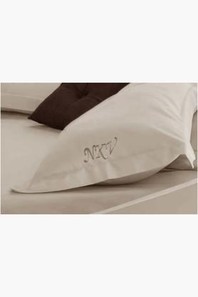 "FISHER WEST NY Cosmic Latte Personalized Solid Pillow Covers (Pillow Cover 18"" X 27"" (2 Pcs)"