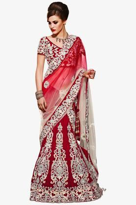 MAHOTSAV Womens Embroidered Semi-stitched Lehenga Choli - 201643937