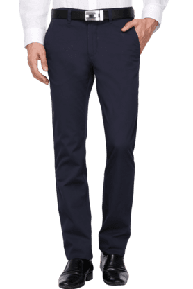 ALLEN SOLLYMens Slim Fit Solid Chinos - 200852154