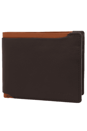 LOUIS PHILIPPE Mens Leather 1 Fold Wallet