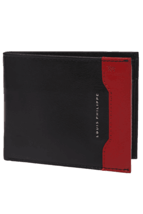 LOUIS PHILIPPE Mens Black High Fashion Leather Wallet