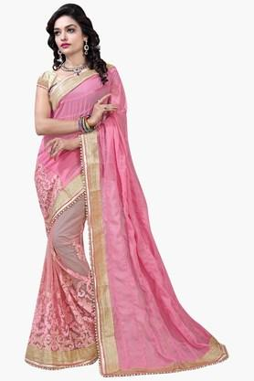 DEMARCA Womens Georgette And Net Designer Saree - 202338182