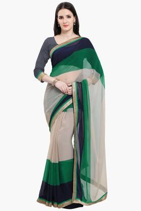 Women Chiffon With Lace Printed Saree