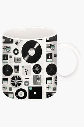 CRUDE AREA Floppy And Disk Data Printed Ceramic Coffee Mug