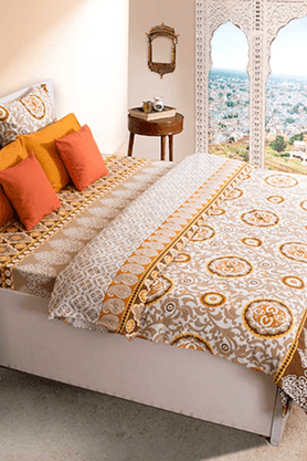 HOUSE THISRajasthan Rust Double Bed Sheet