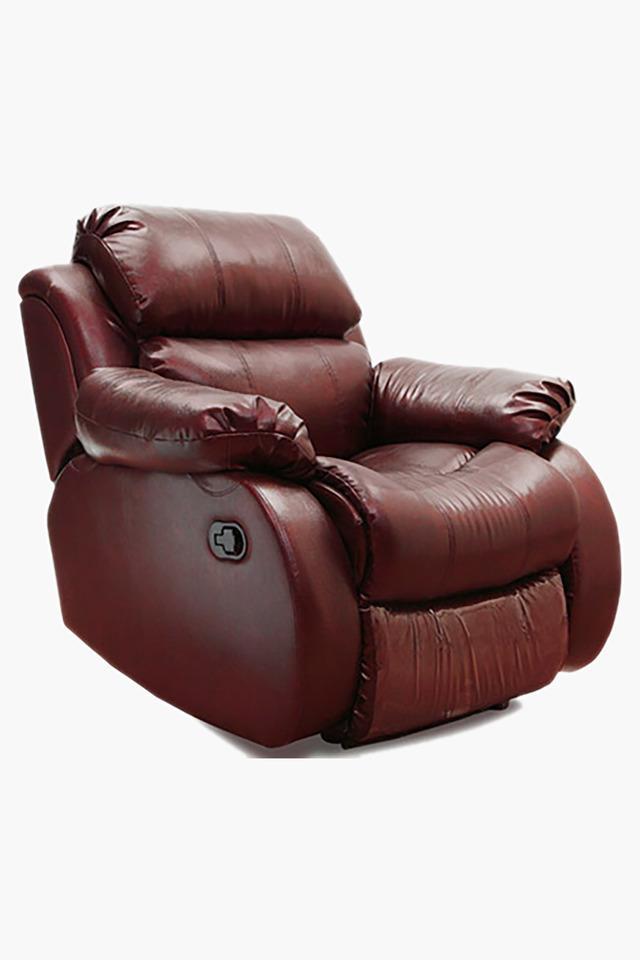 Warm Tan Leatherette Recliner Sofa