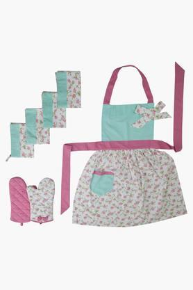 BLISS Multi Colour Printed Kitchen Linen Set (Apron)
