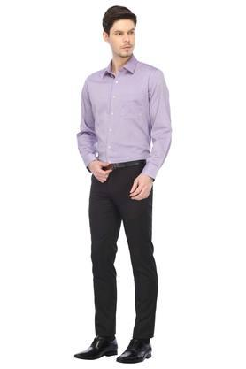Mens Slim Collar Printed Formal Shirt