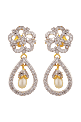 TUAN Dangler & Drop Earring With Beautiful Pearl -IER-306