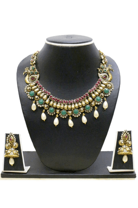 ZAVERI PEARLS Necklace Set-ZPFK355