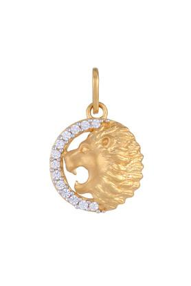 Mens Yellow Gold Cut Lion Head & Face Charm Pendant GLTD15029682