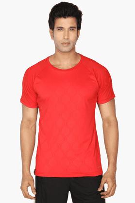 ADIDASMens Round Neck Short Sleeves Printed T-Shirt - 200681190