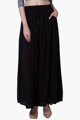 FABALLEY Womens Basic Maxi Skirt