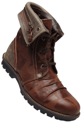 WOODLAND Mens Leather Lace Up Boot