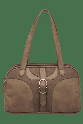 BAGGITWomens Leather Zipper Closure Large Shoulder Bag