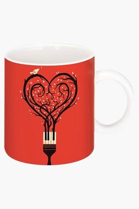 CRUDE AREA Paint Your Love Printed Ceramic Coffee Mug