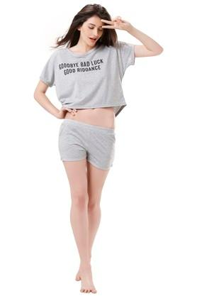 Womens Printed T-Shirt and Shorts Set