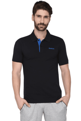 REEBOK Mens Short Sleeve Solid Polo T-Shirt (Use Code FB15 To Get 15% Off On Purchase Of Rs.1200) - 9479999
