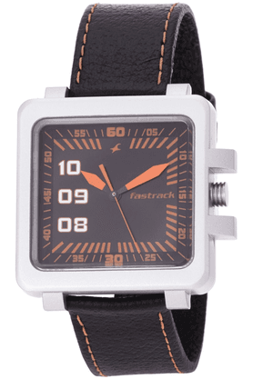 FASTRACKBlack Dial Leather Analogue Mens Watch - ES N747Pl02