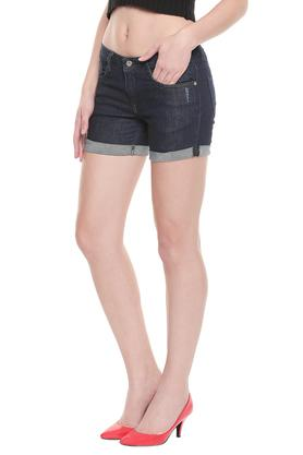 Womens 5 Pocket Rinse Wash Shorts