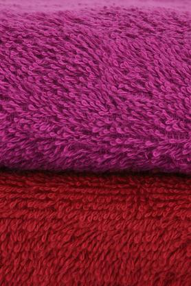 Solid Textured Bath Towel and Hand Towel Set of 4