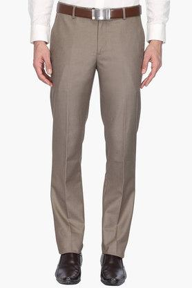 LOUIS PHILIPPE Mens 4 Pocket Slim Fit Check Trouser (Milano Fit)
