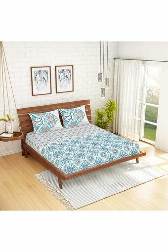 SPACES -  BlueDouble Bed Sheets - Main
