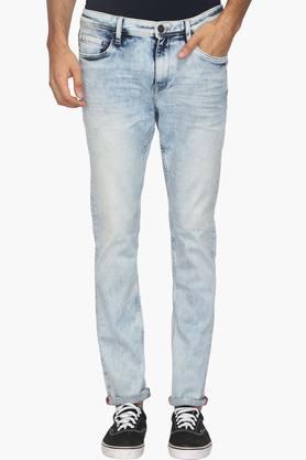 ARROW JEANSMens 5 Pocket Slim Fit Stone Wash Jeans (James Fit)