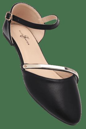 ELLIZA DONATEINWomens Ankle Buckle Closure Ballerina Shoe