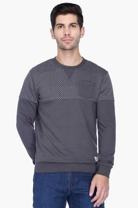 UNITED COLORS OF BENETTON Mens Regular Fit Printed Sweatshirt