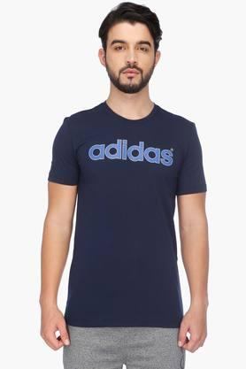 ADIDAS Mens Short Sleeves Round Neck Solid T-Shirt