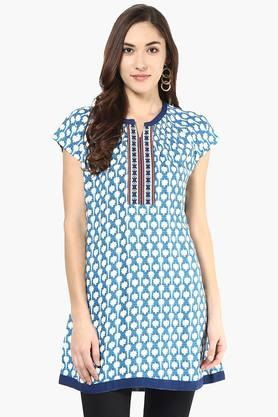 FUSION BEATS Women Printed Tunic - 201996717