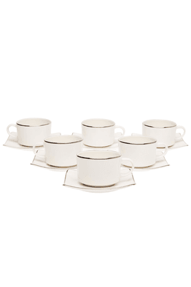 IVY Cups & Saucers (Set Of 12)