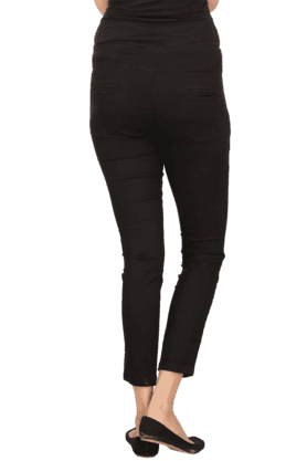 Women Stretch Mid Rise Skinny Fit Jeggings