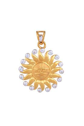 Womens Yellow Gold Sun Face Pendant GLTD15029679