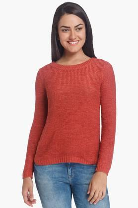 ONLY Womens Round Neck Knitted Solid Pullover (Buy For Rs.5000/- And Get Rs.1000/- Off) - 201337651