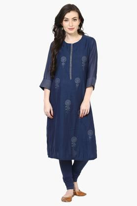 BIBA Women Poly Cotton Straight Kurta - 202376428