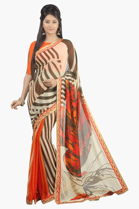 JASHN Womens Printed Saree - 201502535