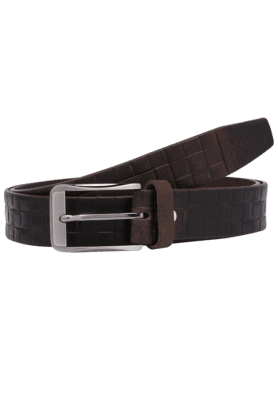 LIFEMens Leather Textured Casual Belt