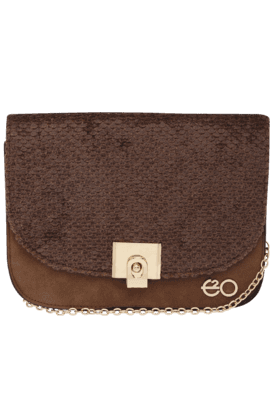E2O Womens Suede Leather Sling Bag