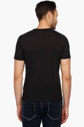 Mens Round Neck Solid T-Shirt