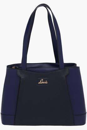 Womens Leather 2 Compartment Zipper Closure Shoulder Bag