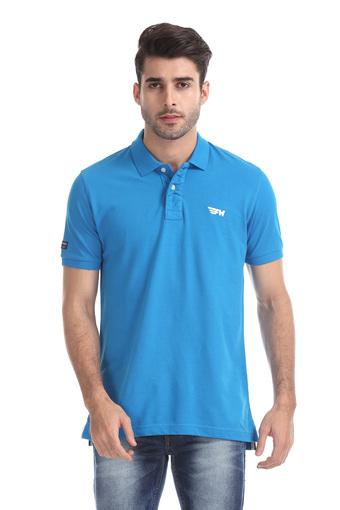 FLYING MACHINE -  Blue T-Shirts & Polos - Main