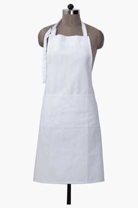 MASPAR Pin Rib White Apron - Set Of 2