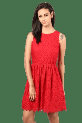 Women Sleeveless Lace Dress